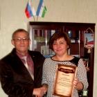 Вручение благодарственного письма адвокату Михановой О.В.